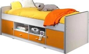 Vipack kajuitbed Bonny - oranje - 78,5x97,5x207 cm - Leen Bakker