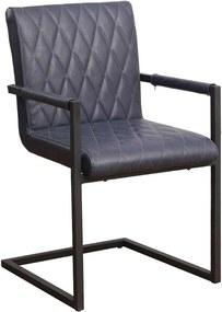Viverne | Eetkamerstoel Barax - totaal: breedte 54 cm x diepte 57 cm x hoogte blauw eetkamerstoelen pu leer, metaal stoelen | NADUVI outlet