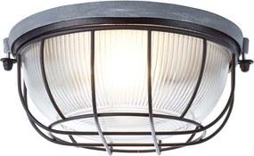 Brilliant wand/plafondlamp Lauren - beton/zwart - Leen Bakker