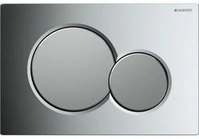 Sigma 01 bedieningsplaat glans chroom - mat chroom - glans chroom (plaat - ring - knop)