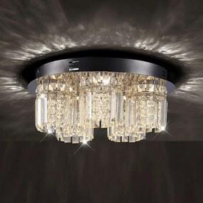 LED kristallen plafondlamp Shari, 5 lampen, dimb