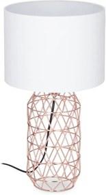 Tafellamp gaas - nachtlampje vintage - E27 fitting - sfeerverlichting rosé-goud
