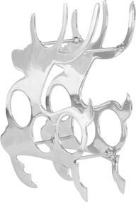 Wijnrek 33x14x54 cm massief aluminium zilverkleurig