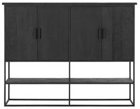 DTP Home Timeless Black Zwarte Wandkast Beam Groot - 180x40x140cm.