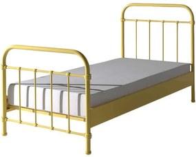 Vipack bed New York - geel - 90x200 cm - Leen Bakker