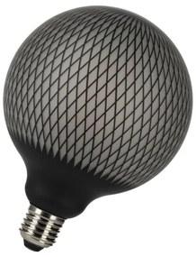 Bailey Designs Orient Grid Globe G125 E27 4W 2700K Zwart 180lm Dimbaar 230V-240V 360D 125x170 LED lamp 143104