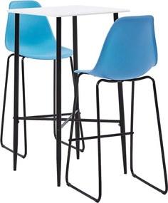 3-delige Barset kunststof blauw