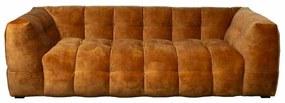3-zits bank Sfär | velours Adore cognac 28 | 2,32 mtr breed