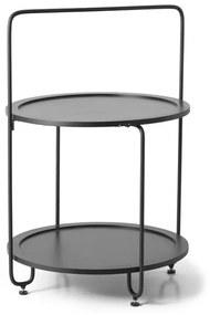 Bijzettafeltje/etagère XL- zwart - ⌀47x69 cm