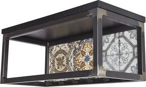 Spinder Design | Ibiza 1 kapstok met hoedenplank 65 x 30 x 25 zwart kapstokken staal opbergen decoratie | NADUVI outlet