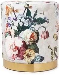 Essenza Fleur poef met bloemenprint
