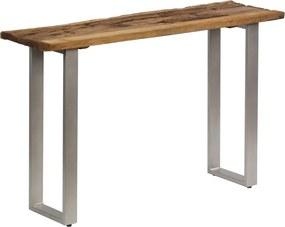 Wandtafel 120x35x76 cm gerecycled hout en staal
