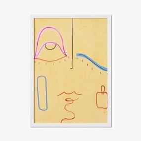 Venetia Berry, 'Face It' limited edition, ingelijste print, A3