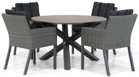 Garden Collections Oxbow/Ancona125 cm dining tuinset 5-delig