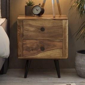 Nachtkastje Van Sheesham Hout - 50x40x60cm.
