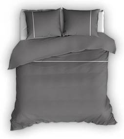 Romanette Duchesse - Verwarmend Flanel - Antraciet Lits-jumeaux XL (270 x 200/220 cm + 2 kussenslopen) Dekbedovertrek