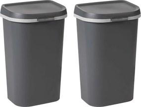 Afvalbakken Mistral 2 st 100 L antraciet