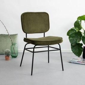 By-Boo Eetkamerstoel 'Vice' Velvet, kleur groen