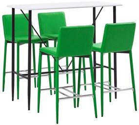Medina 5-delige Barset kunstleer groen
