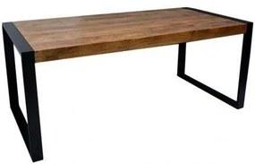 4uDesigned | Eettafel New Construction - totaal: lengte 140 cm x breedte 80 cm x hoogte naturel, zwart eettafels mangohout, | NADUVI outlet