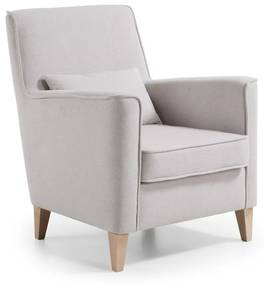 Kave Home Glam Design Fauteuil Met Hout Beige