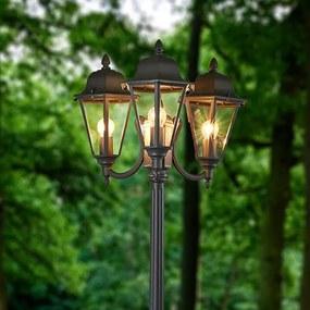 3-lichts kandelaber Edana in grafietgrijs - lampen-24