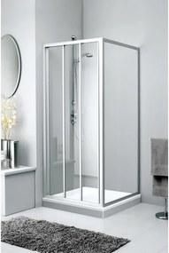 Sealskin Get Wet C110 zijwand 80x190cm wit profiel en chinchilla glas 7AG080C020200