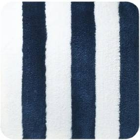 Bidetmat Antislip Sealskin Linje Polyester Blauw 60x60cm
