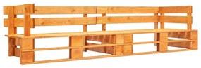 Medina Tuinbank 2-zits pallets hout honingbruin