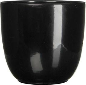 Bloempot Pot rond es21 tusca 23 x 25 cm zwart Mica