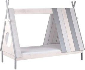 Bln Kids bed Sioux - grijs - 167x104,3x214,4 cm - Leen Bakker