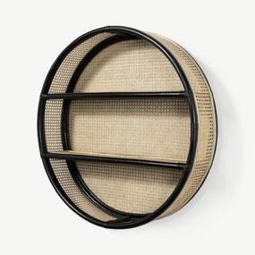 Clare ronde planken, 80 cm, zwart rotan