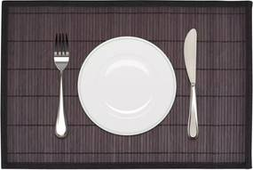 Placemats 30x45 cm bamboe donkerbruin 6 st