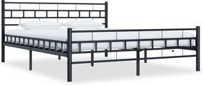 Bedframe staal zwart 160x200 cm