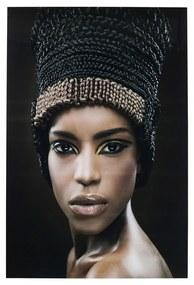 Kare Design Royal Headdress Face Glas Schilderij 100 X 150 Cm