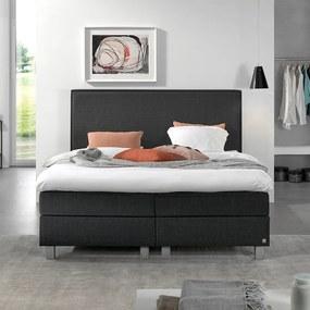 Primaviera Deluxe Boxspringset - Livio Comfort 140 x 200, Kleur: Antraciet, Montagekeuze: Exclusief Montage