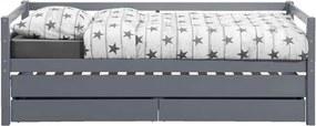 Bed Ties (incl. bedverhoger) - grijs - 90x200 cm - Leen Bakker