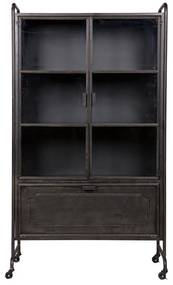 BePureHome Steel Vitrinekast Op Wielen - 105x40.2x183.5cm.