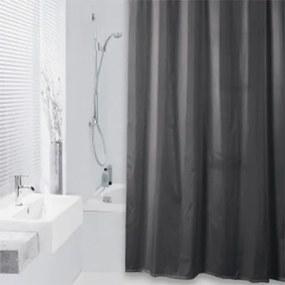 Douchegordijn Differnz Textiel Color Polyester Antraciet 180x200cm