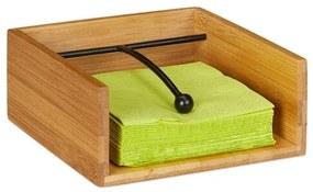 Servethouder van bamboe - servettenhouder - hout - met verzwaring - houtkleur