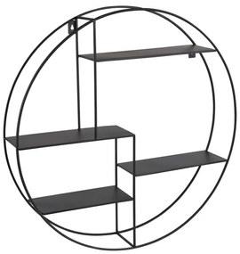 Wandkastje rond met 4 planken - 50x10x55 cm