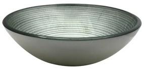 Saniclass Pesca Uva waskom 42x14,5cm rond gehard glas grijs groen GS-N6474
