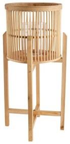 Bamboe lantaarn op voetjes - naturel - 36x73 cm