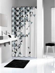 Douchegordijn Textiel Sealskin Tangram Polyester Zwart 180x200cm