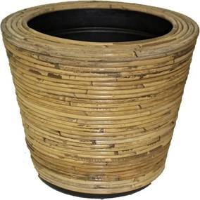 Drypot rotan streep d35h30 cm