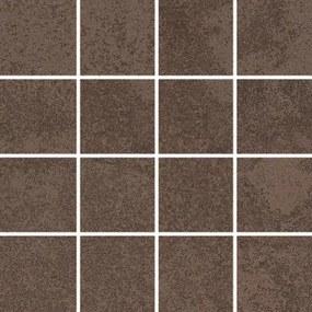 Newtown tegelmat 30x30 cm. blok 7,5x7,5 cm. doos 11 stuks brown