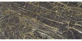 Cifre Cerámica Vloer- en wandtegel Black Golden Mate 120x260 cm Gerectificeerd Marmer look Mat Multi SW07311073-1