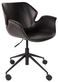 Zuiver Nikki Office Zwarte Bureaustoel