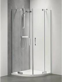 Douchecabine Sealskin Get Wet Custom Kwartrond 90x90x195cm Zilver Hoogglans Helder Glas