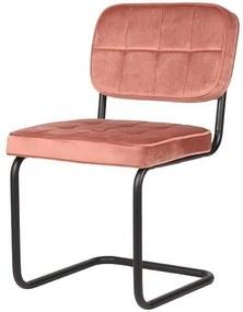 Trend Living | Eetkamerstoel Vince breedte 49 cm x hoogte 83 cm x diepte 57 cm roze eetkamerstoelen fluweel meubels stoelen | NADUVI outlet